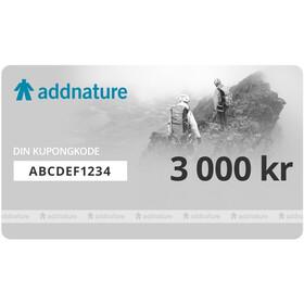 Addnature Gavekort 3000 kr